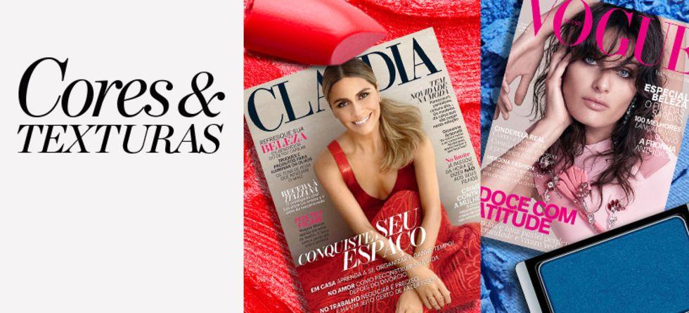 Tendências de maquiagem nas revistas de setembro