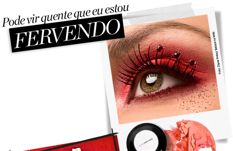 Maquiagem vermelha para a noite