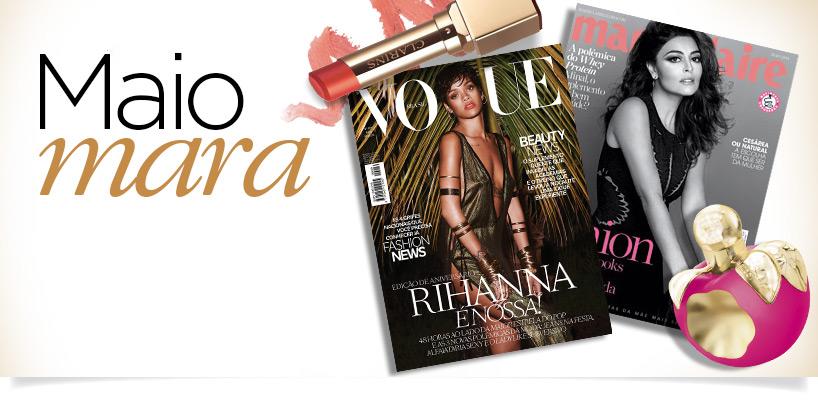 Produtos de beleza das revistas de maio  banner