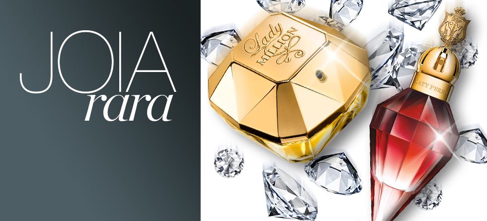 Perfumes importados que parecem joias