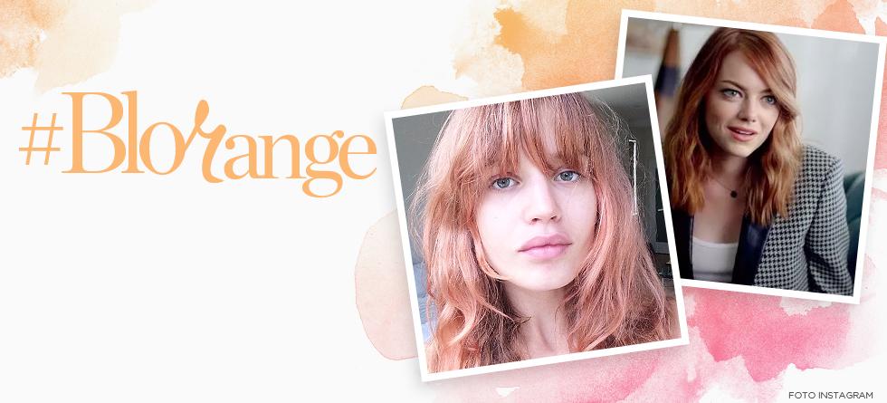 Blorange é a nova tendência de coloração de cabelo