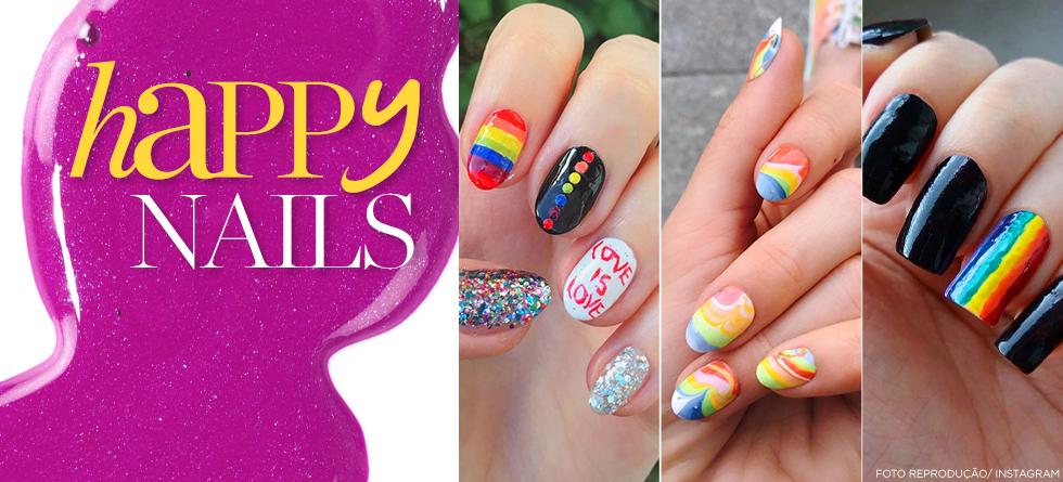 Orgulho LGBT: 10 nail arts de arco-íris pra você arrasar