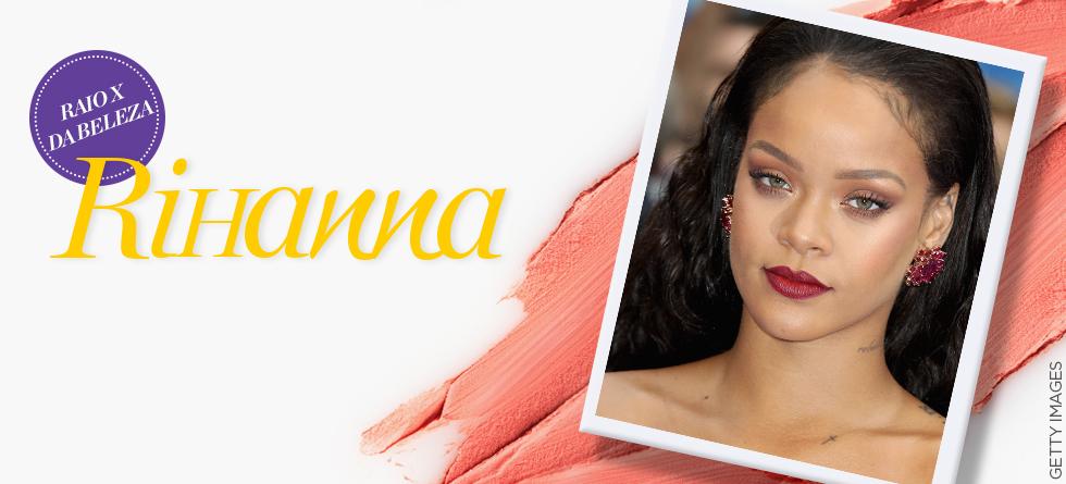 Rihanna aposta em make monocromático em tapete vermelho