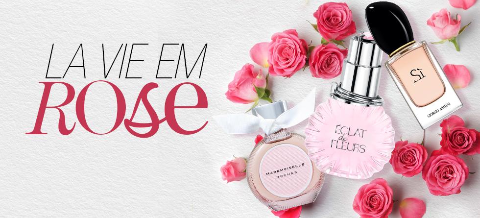Perfumes femininos com rosas