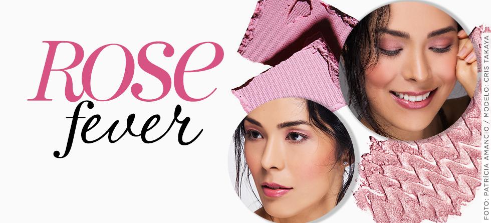 Maquiagem em tons de rosa