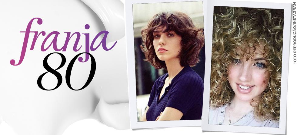Franja cacheada: inspire-se no look anos 80