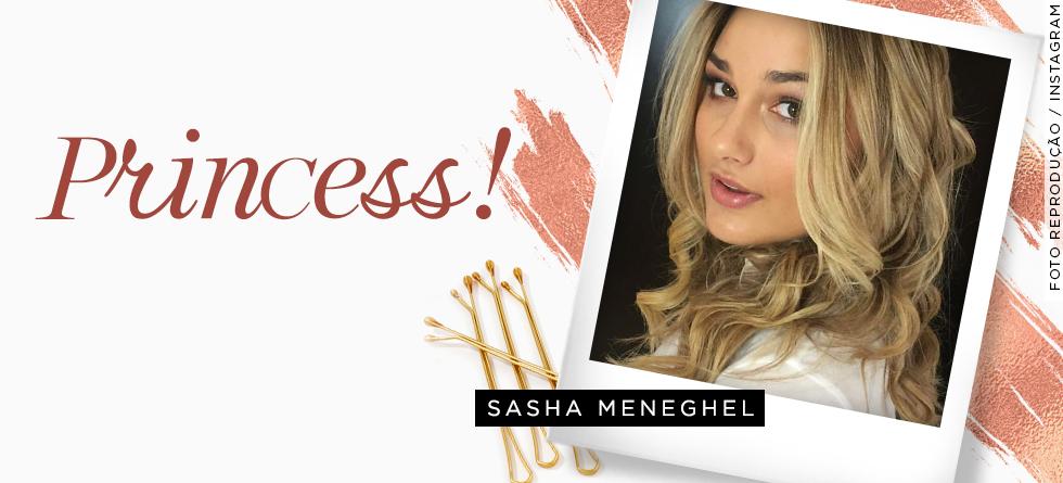O cabelo da Sasha; inspire-se!