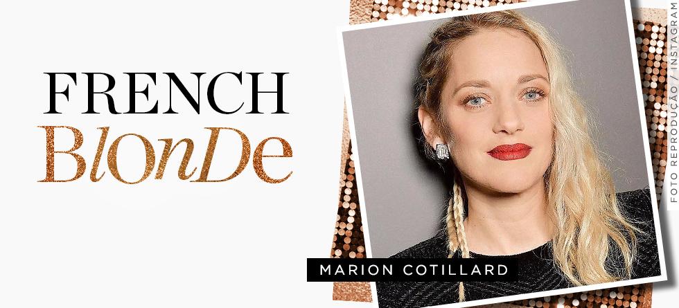 Marion Cotillard está loira!