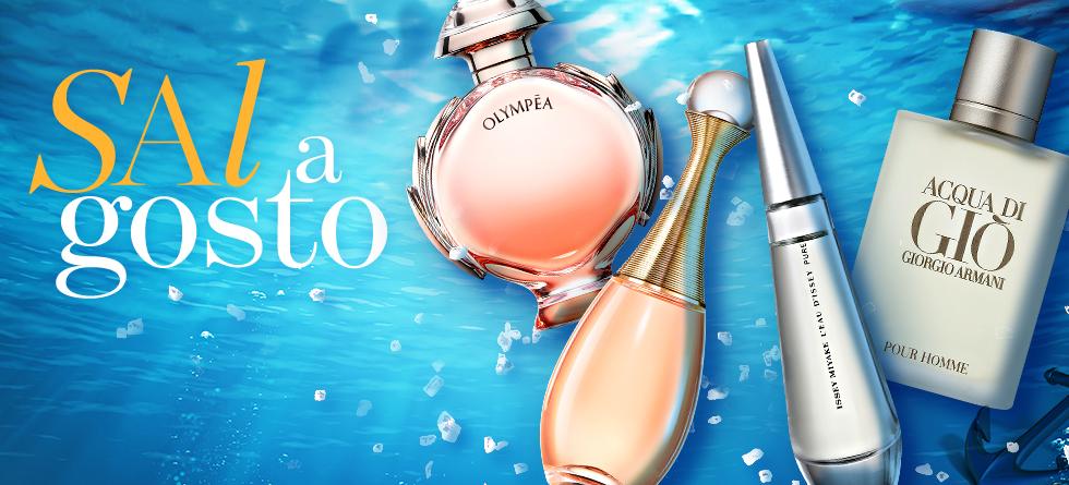 Perfumes com sal e notas marinhas