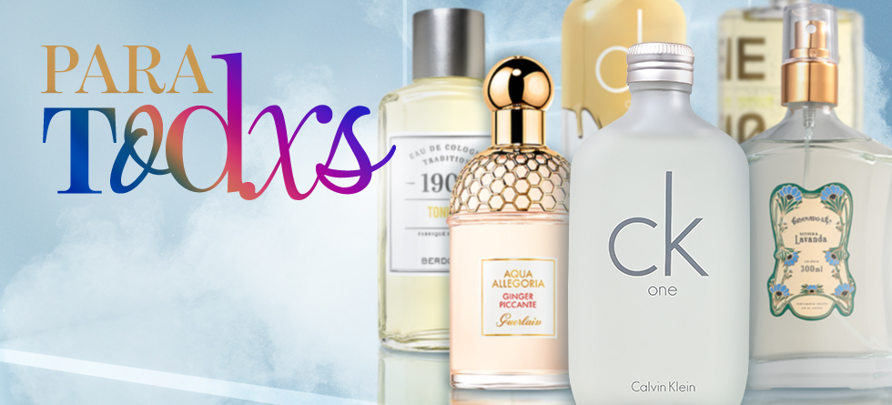 Os perfumes unissex, genderless, no gender