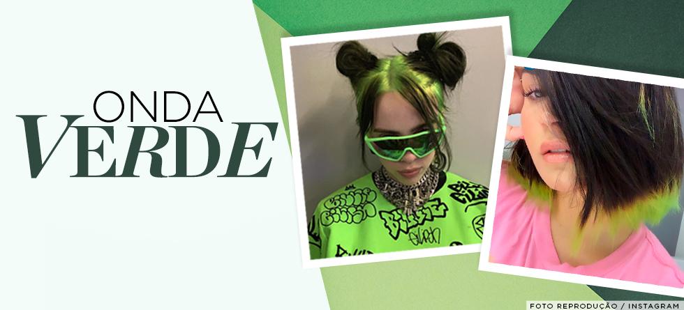 O cabelo verde é o novo hit entre as famosas