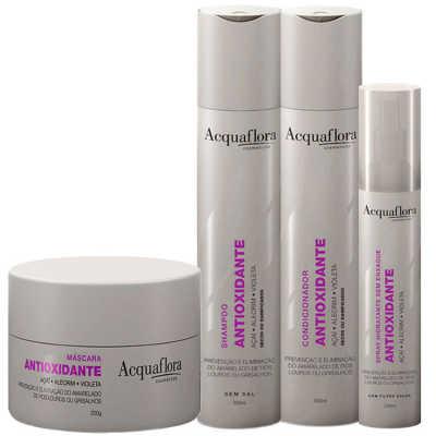 Acquaflora Antioxidante Secos ou Danificados Kit Completo (4 Produtos)