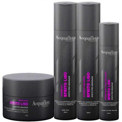 Acquaflora Efeito Liso Máscara Kit (4 Produtos)