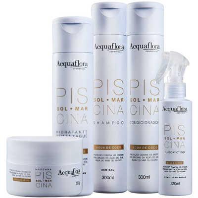 Acquaflora Sol Mar Piscina Máscara Protetora Hidratante Kit (5 Produtos)