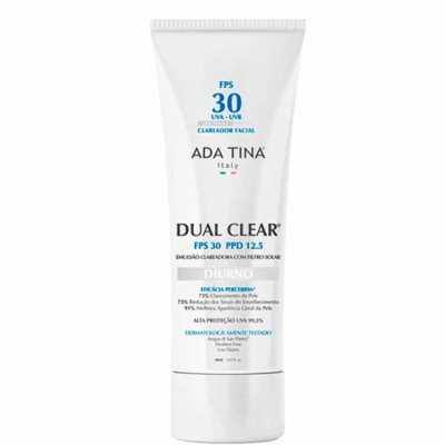 Ada Tina Dual Clear Diurno Fps 30 Ppd 12,5 - Clareador Facial Com Protetor Solar 30ml