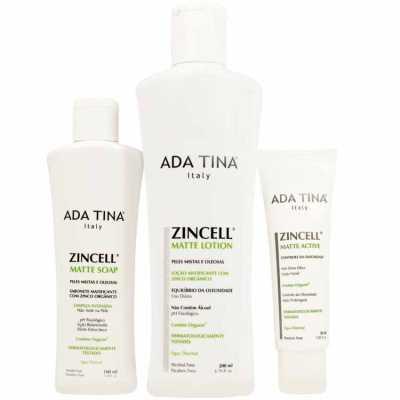 Ada Tina Zincell Matte Kit (3 Produtos)