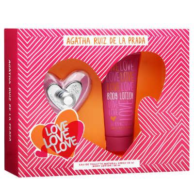 Agatha Ruiz de La Prada Conjunto Feminino Love Love Love - Eau de Toilette 80ml + Loção 100ml