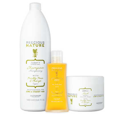 Alfaparf Precious Nature Prickly Pear & Orange Salon Trio Kit (3 Produtos)
