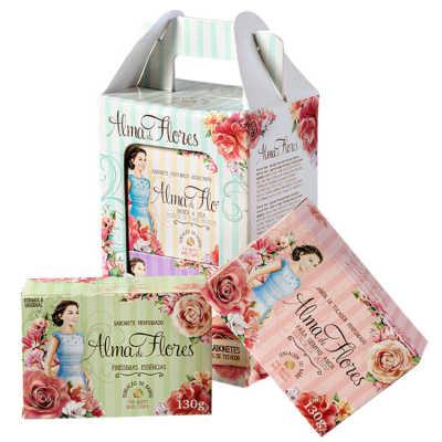 Alma de Flores Perfume e Hidratação Kit - Sabonetes 4x 130g