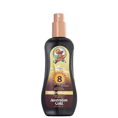 Australian Gold SPF 8 Spray Gel With Instant Bronzer - Bronzeador 237ml