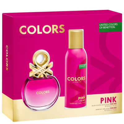 Benetton Conjunto Feminino Colors Pink - Eau de Toilette 80ml + Desodorante 150ml