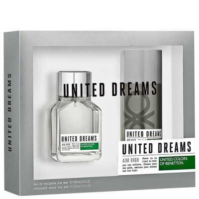 Benetton Conjunto Masculino United Dreams Aim High For Men - Eau de Toilette 100ml + Desodorante 150ml