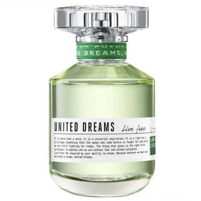 Benetton Perfume Feminino United Dreams Live Free - Eau de Toilette 80ml
