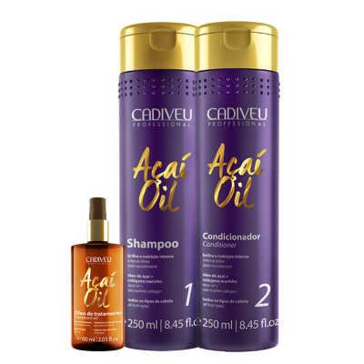 Cadiveu Professional Açaí Oil Natural Kit (3 Produtos)