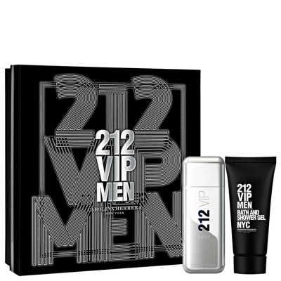 Conjunto Carolina Herrera 212 VIP Men Masculino - Eau de Toilette 100ml + Gel de Banho 100ml