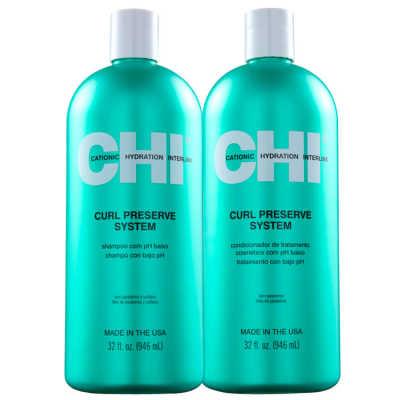 CHI Curl Preserve System Salon Duo Kit (2 Produtos)