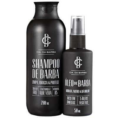 Cia da Barba Shampoo e Óleo de Barba Kit (2 Produtos)