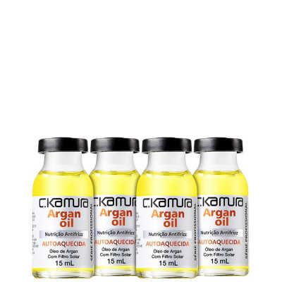 C.Kamura Argan Oil Nutrição Antifrizz - Ampola de Tratamento 4x 15ml