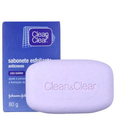 Clean & Clear Sabonete Esfoliante Anticravos - Sabonete Facial 80g