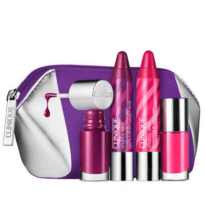 Clinique Party 2 Lips and 2 Nails Kit (4 Produtos + Nécessaire)