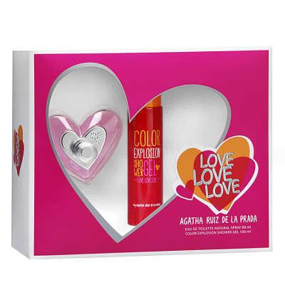 Agatha Ruiz de La Prada Conjunto Feminino Love - Eau de Toilette 80ml + Gel de Banho 100ml