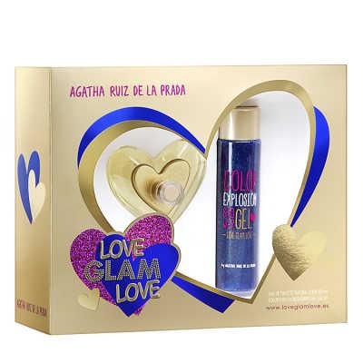 Agatha Ruiz de La Prada Conjunto Feminino Love Glam Love - Eau de Toilette 80ml + Gel de Banho 100ml
