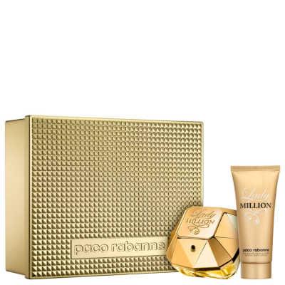Conjunto Lady Million Edição Limitada Paco Rabanne Feminino - Eau de Parfum 80ml + Loção Corporal 100ml