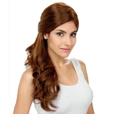 Crown Wigs Estela Cor Castanho Claro - Peruca 56cm