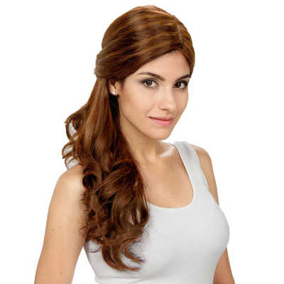 Crown Wigs Estela Cor Castanho Médio/Claro - Peruca 56cm