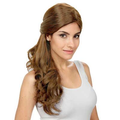 Crown Wigs Estela Cor Louro Claro/Escuro - Peruca 56cm