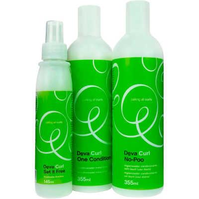 Deva Curl Set It Free Kit (3 Produtos)
