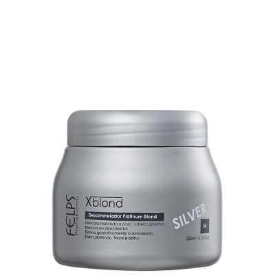 Felps Profissional Xblond Magic Clay Silver - Máscara Matizante 250g
