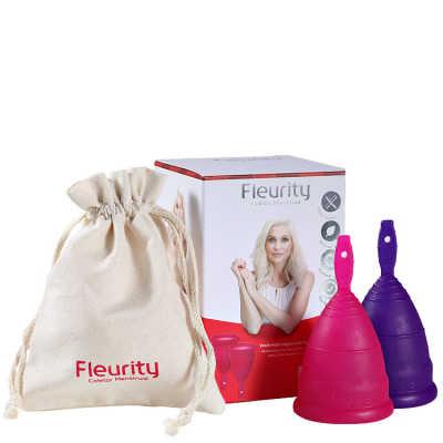 Fleurity Coletor Menstrual Tipo 1 (+30 anos ou com filhos) - Coletor Menstrual 2un