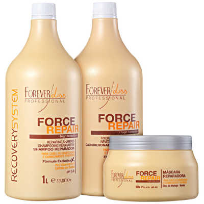 Forever Liss Professional Force Repair Salon Trio Kit (3 Produtos)