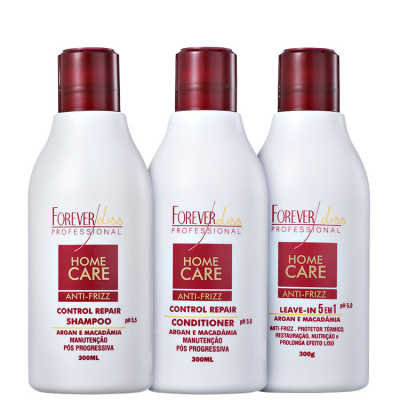 Forever Liss Professional Home Care Anti-Frizz Liso Protegido Kit (3 Produtos)