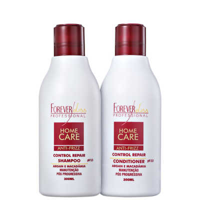 Forever Liss Professional Home Care Anti-Frizz Pós-Progressiva Kit (2 Produtos)