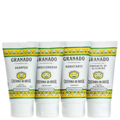Granado Terrapeutics Kit Amenities Castanha do Brasil - 4x 50ml