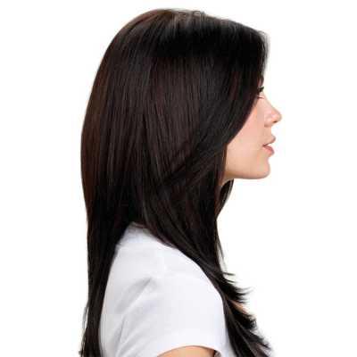 Hairdo Liso em Camadas - Castanho Super Escuro 48 Cm