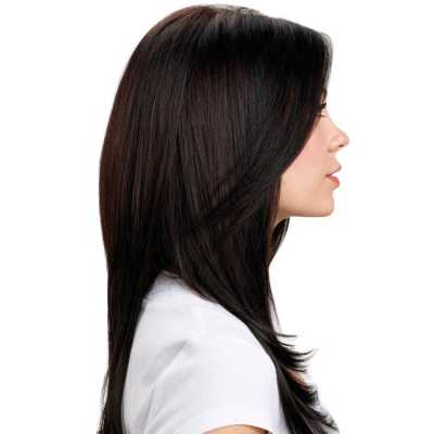 Hairdo Liso em Camadas - Castanho Super Escuro 63 Cm
