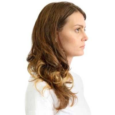 Hairdo Ondulado - Dourado Com Californianas 45 Cm